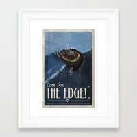 grim fandango Framed Art Prints featuring Grim Fandango Vintage Travel Poster - The Edge by David MacKenzie