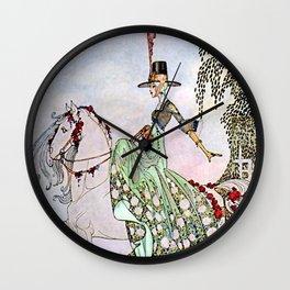 "Kay Nielsen Fairy Art ""Princess on White Horse"" Wall Clock"