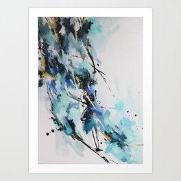 Bercée par le vent froid de l'hiver Art Print