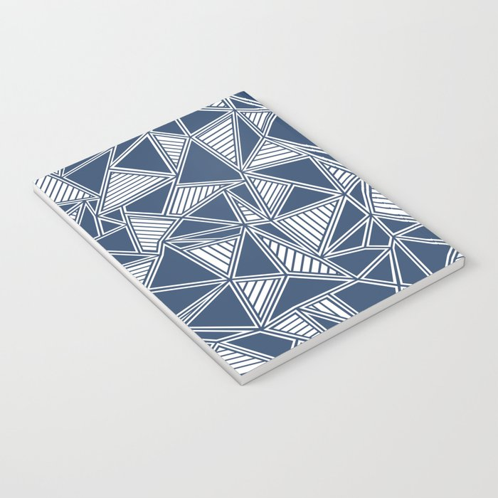Abstract Outline Lines Navy Notebook