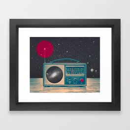 Space Radio Framed Art Print