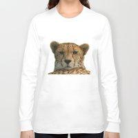 cheetah Long Sleeve T-shirts featuring Cheetah by Sean Foreman