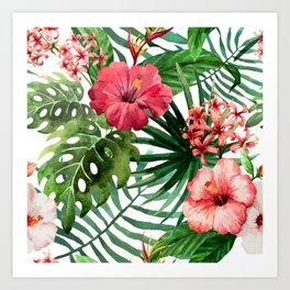 FLOWERS WATERCOLOR 8 Art Print