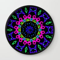 kindle Wall Clocks featuring Nightowl by Tammi Hofstetter