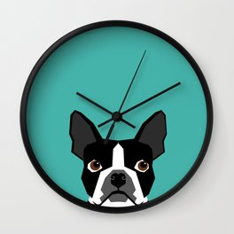 Boston Terrier head dog breed gifts cute pupper boston terriers must haves Wall Clock