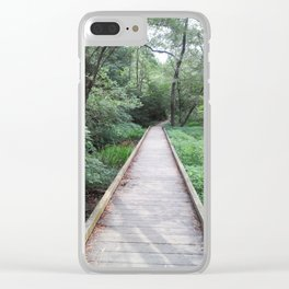 Wooden Pathway Clear iPhone Case