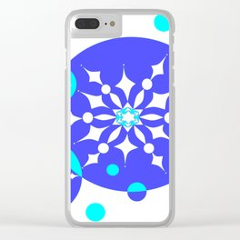 A Delightful Winter Snow Design Clear iPhone Case