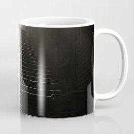 Sunlight and Shadow, City Steps, Morning black and white photography / photograph Coffee Mug