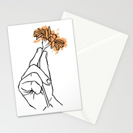 A flower Stationery Cards