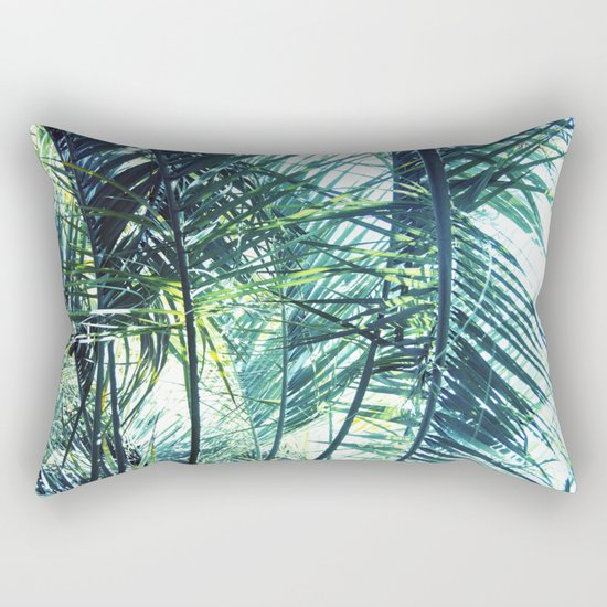 Bright Palm 3 Rectangular Pillow