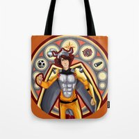 digimon Tote Bags featuring Digimon Cards: Tai by Dralamy