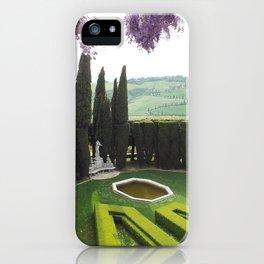 Tuscany Garden iPhone Case