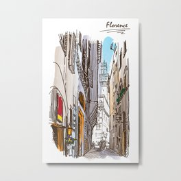 Sketches from Italy - Florence Metal Print
