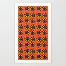 camera 01 pattern Art Print