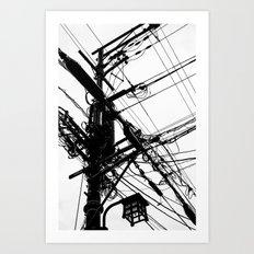 Telephone Poll 2 Art Print