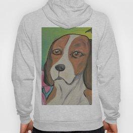 """Alyvia"" Beagle Lily Painting Hoody"