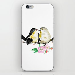 birds and apple flower blossom iPhone Skin