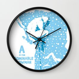 A is for Abominable Snowman Wall Clock