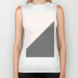 Minimalist blush pink grey color block geometric Biker Tank