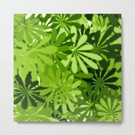 In The Tropics GREEN Metal Print