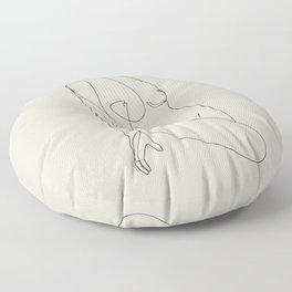 Single Nude - Beige Floor Pillow