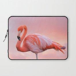 Pink Flamingo Sunset Laptop Sleeve