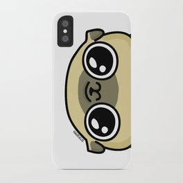 Mochi the pug loves you iPhone Case