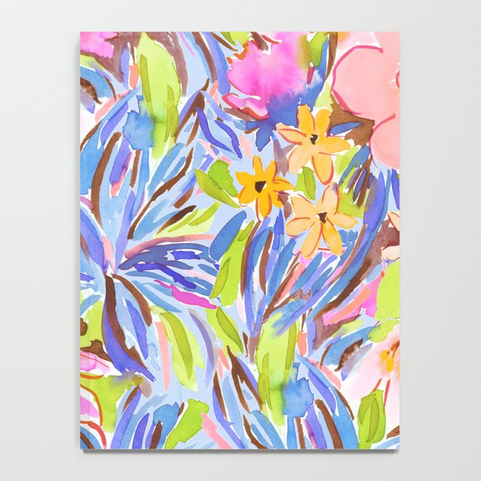 Flaunting Floral Periwinkle Notebook