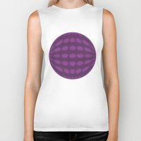 globe Biker Tanks featuring Purple globe by Avril Harris