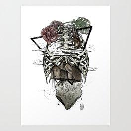 Esqueleton Illustration by Javi Codina Art Print