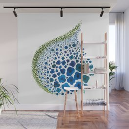 Paths of Color [Turquoise, Blue and Green] Wall Mural