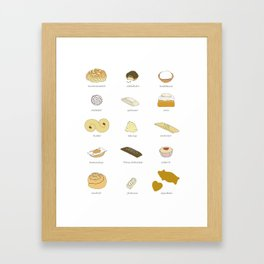 Swedish Cookies (fika) Framed Art Print