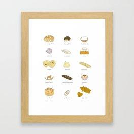 Swedish Cookies (fika) Framed Art Print