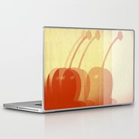 cherry Laptop & iPad Skins featuring cherry by cubik rubik