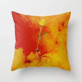 smokey rose Throw Pillow