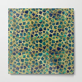 Gold and Marble Suits Pattern Digital Art Metal Print