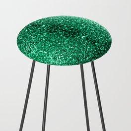 Beautiful Emerald Green glitter sparkles Counter Stool
