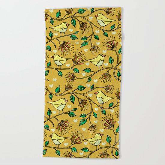 Birds pattern II Beach Towel