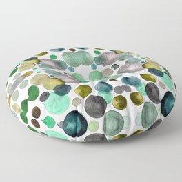 Watercolor circles Floor Pillow