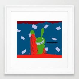 bunny splat in weymesworld Framed Art Print
