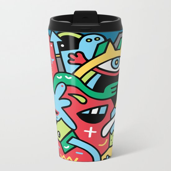 Barney Blimpsta Metal Travel Mug