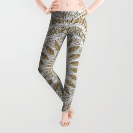 Elegant hand drawn tribal mandala design Leggings