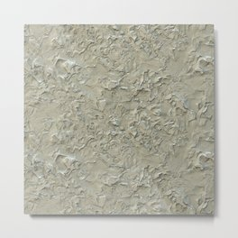 Rough Plastering Texture Metal Print