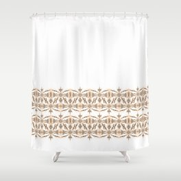 Kat Scratch Tribal Pattern • Peach & Taupe Shower Curtain
