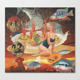 Surreal Seafood Canvas Print
