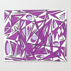 abstract geometrie lilac Canvas Print