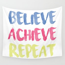 Believe Achieve Repeat Motivation Sentence Wall Tapestry