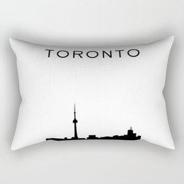 Toronto Skyline Graphic Rectangular Pillow