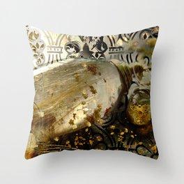 Rutilated Honey Golden Jewelry Art Throw Pillow