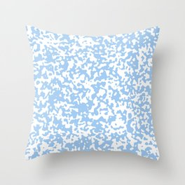 Small Spots - White and Baby Blue Throw Pillow